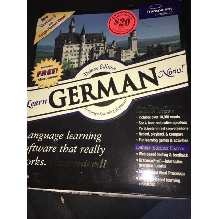 Transparent Language: LEARN GERMAN NOW!—Deluxe Edition