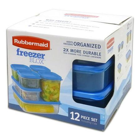 Rubbermaid Freezer Blox 12 Piece Food Storage Set Clear