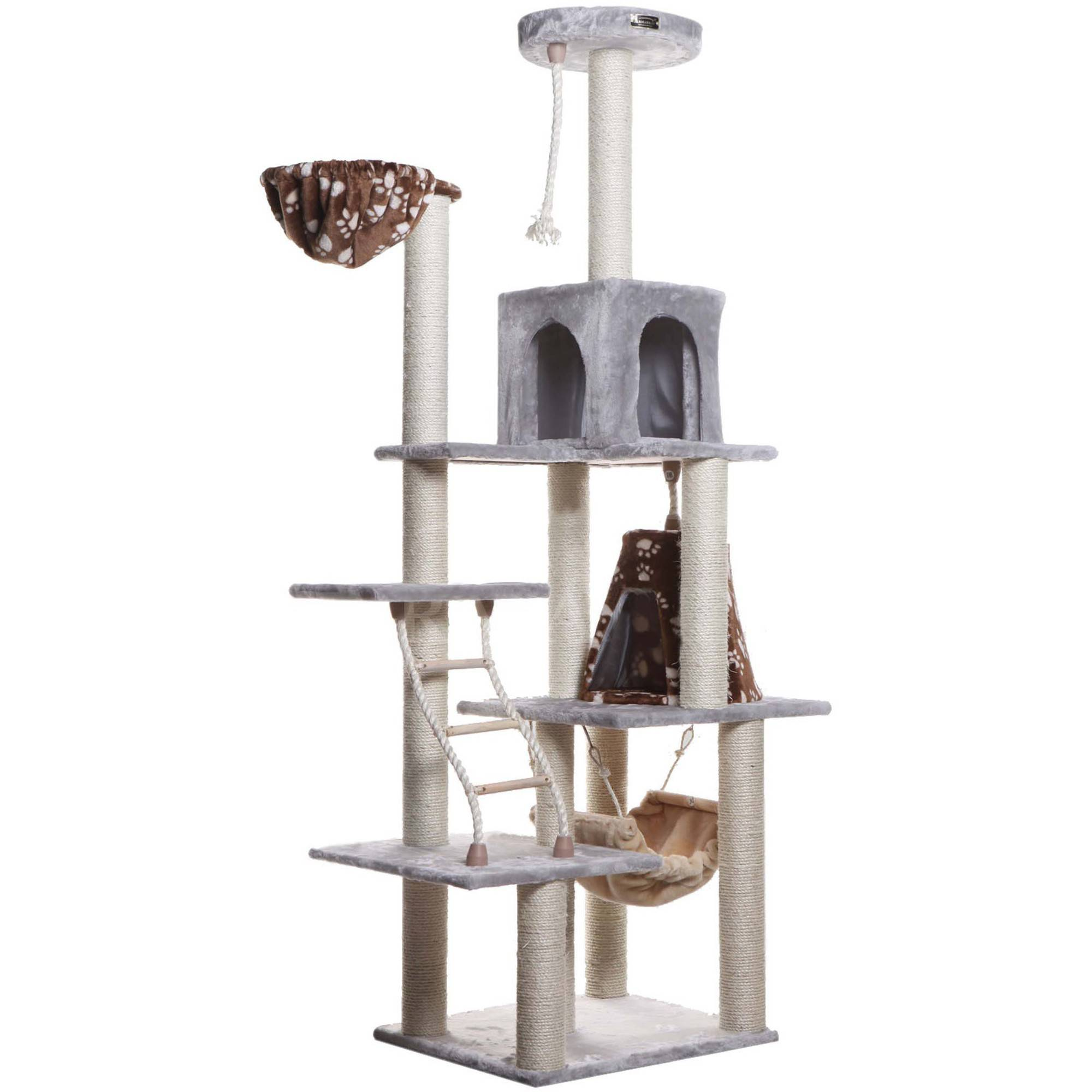 Armarkat Classic Cat Tree Model A7802, 78 inch Silver Gray by Aeromark Intl Inc