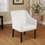 Coaster Bonded Leather Accent Chair White Walmart Com