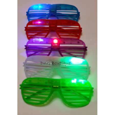 2a06798da6d9 LWS LA Wholesale Store 12 Light Up Shutter Glasses LED Shades Sun Glasses  Flashing Rock Wedding Party - Walmart.com