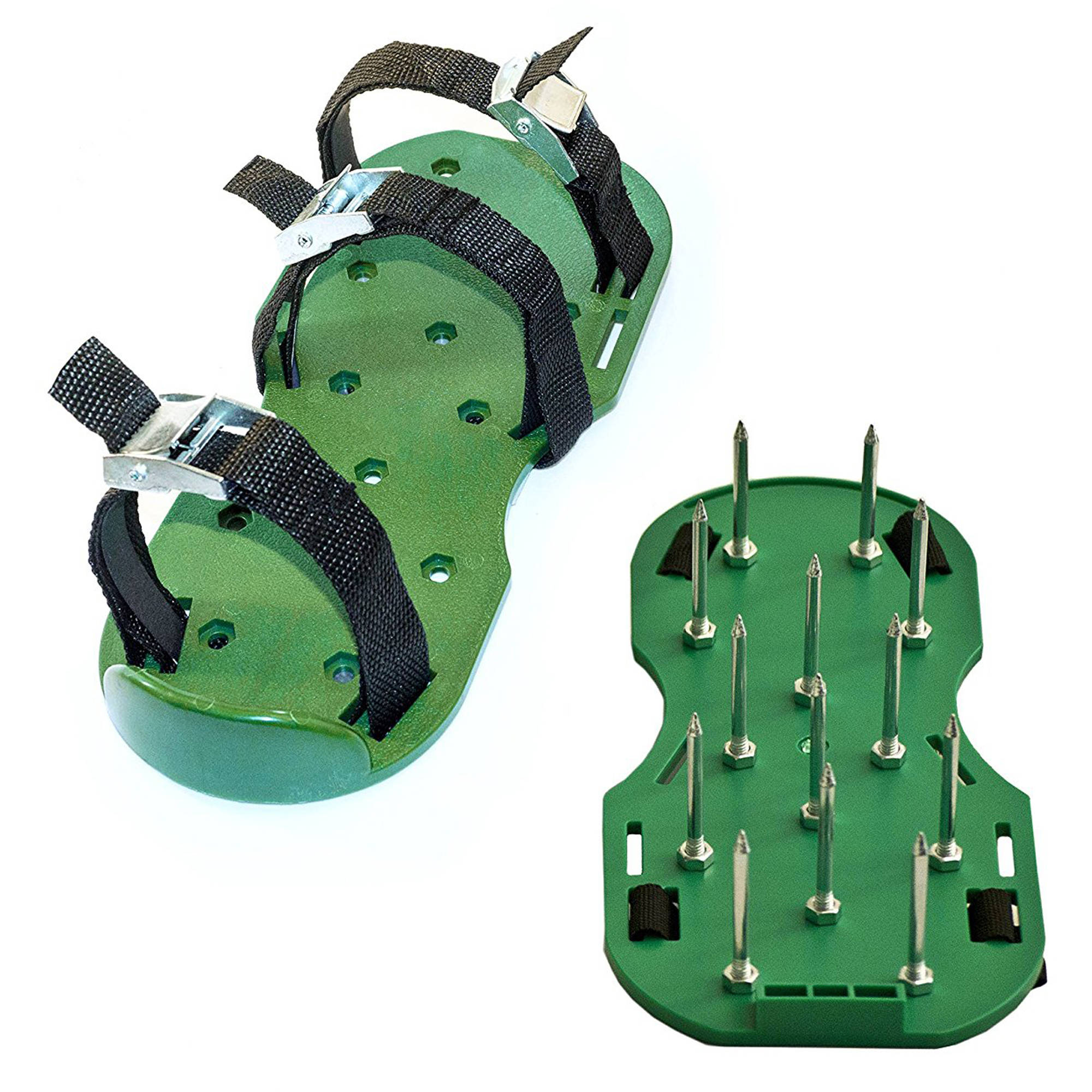ALEKO AP2143 Lawn Garden Sharp Aerating Spike Shoes, Green Color