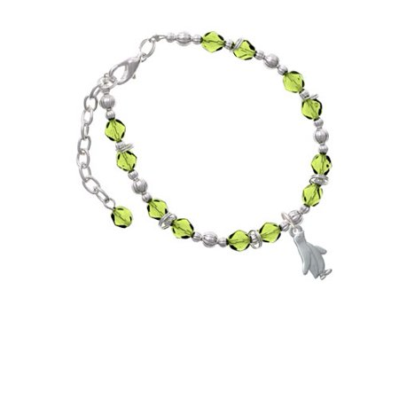 2-D Penguin Lime Green Beaded - Lime Green Womens Bracelets