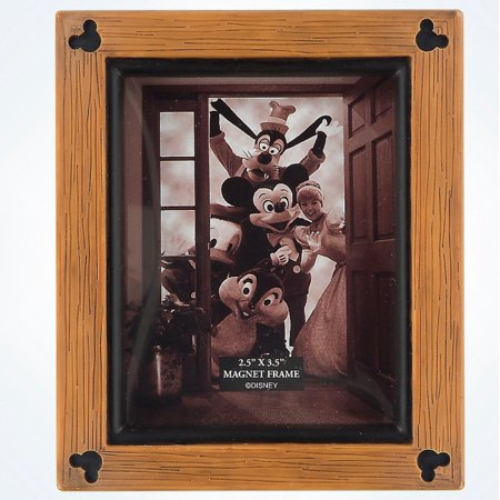 Disney Parks Mickey Mouse Icons Wood 2.5x3.5 Photo Picture Frame Magnet New for $<!---->
