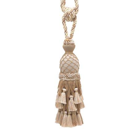 (Lavish Ivory, Light Beige Curtain & Drapery Tassel Tieback / 11