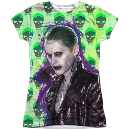Suicide Squad  Joker Jacket Skull Girls Jr Sublimation White