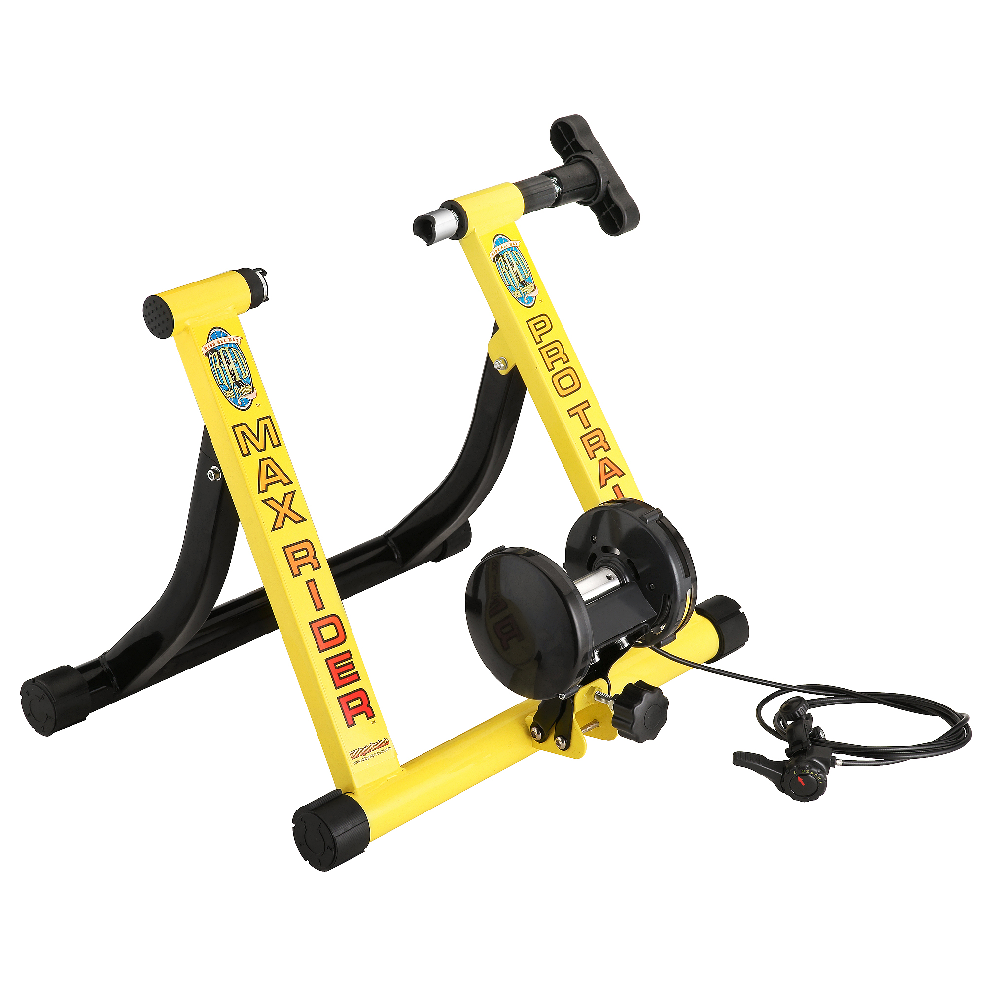 RAD Cycle Yellow Bike Trainer Indoor Bicycle Exercise 6 Levels of Resistance