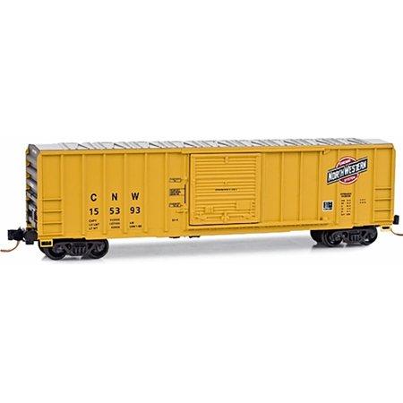 Micro Trains Mtl N Scale 50Ft Rib Side Sd Box Car Chicago North Western  155393