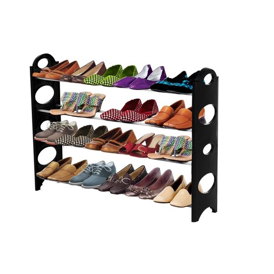 Foyer Closet Jewelry : Forhauz shoe organizer pair storage rack for closet or