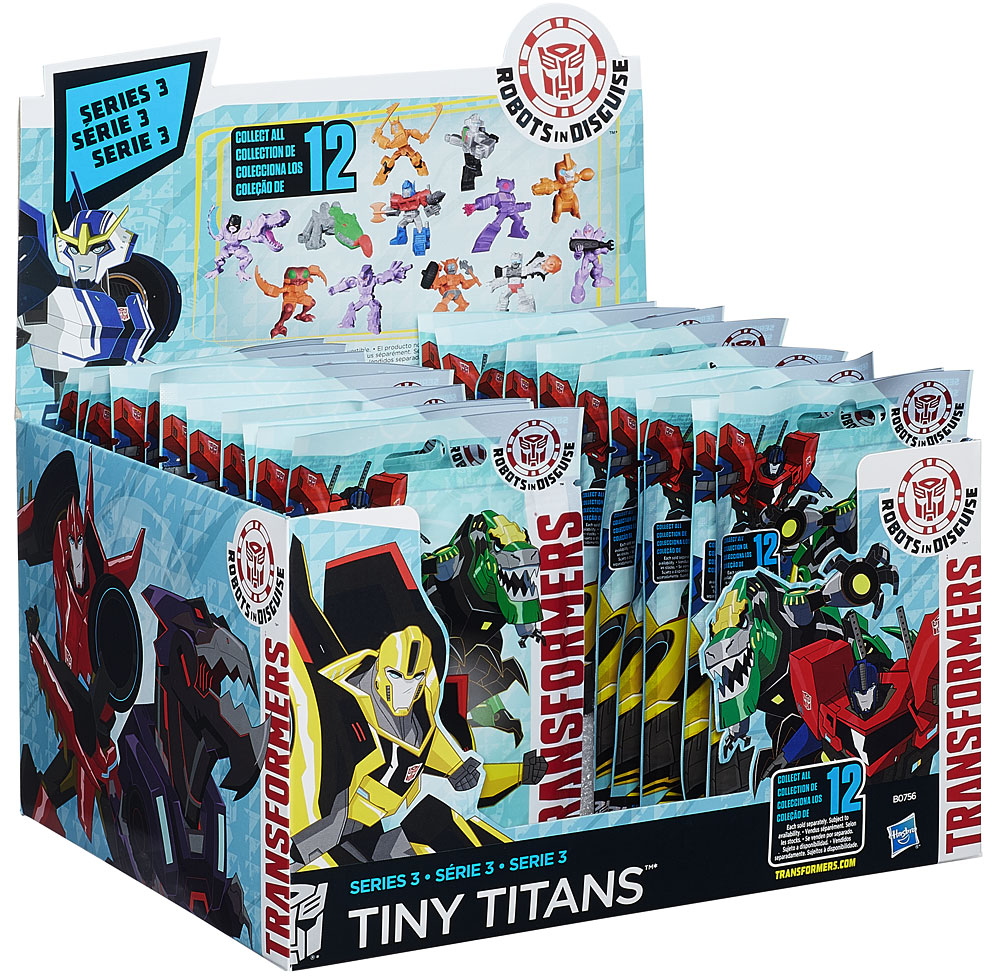 """Transformers Robots in Disguise Tiny Titans Series 3 2"""" Mystery Box by Hasbro"""