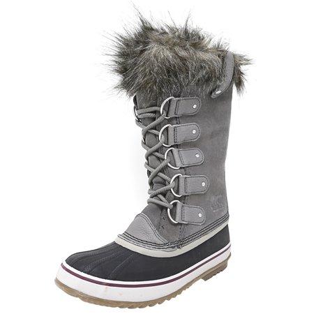 513273e9a567 Sorel - Sorel Women s Joan Of Arctic Quarry   Black Mid-Calf Leather Snow  Boot - 6.5M - Walmart.com