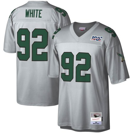 Reggie White Philadelphia Eagles Mitchell & Ness NFL 100 Retired Player Legacy Jersey - Platinum Mitchell & Ness Football Jersey