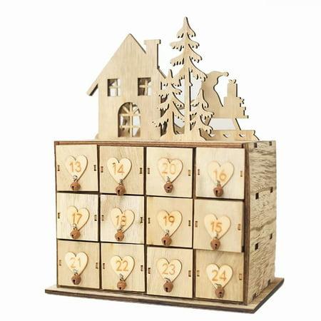 16 Drawers Christmas Wooden Jewelry Pastel Organizer Storage Box Decoration Art Small Wood Calendar Ornament Cabinet - Pastel Box