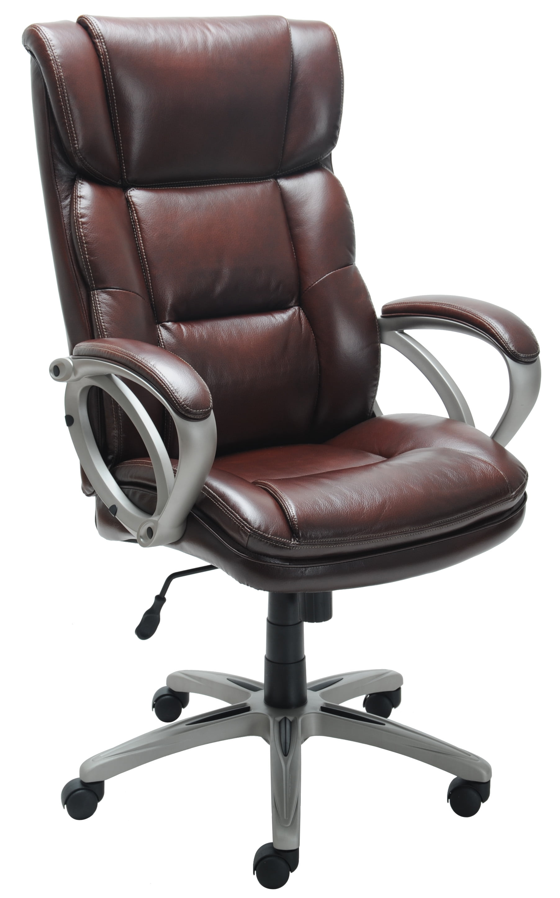 Costway PU Leather Executive Bucket Seat Racing Style fice Chair