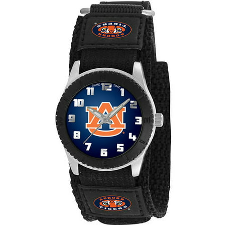Game Time NCAA Kids' Auburn University Tigers Rookie Series Watch, Black Velcro Strap