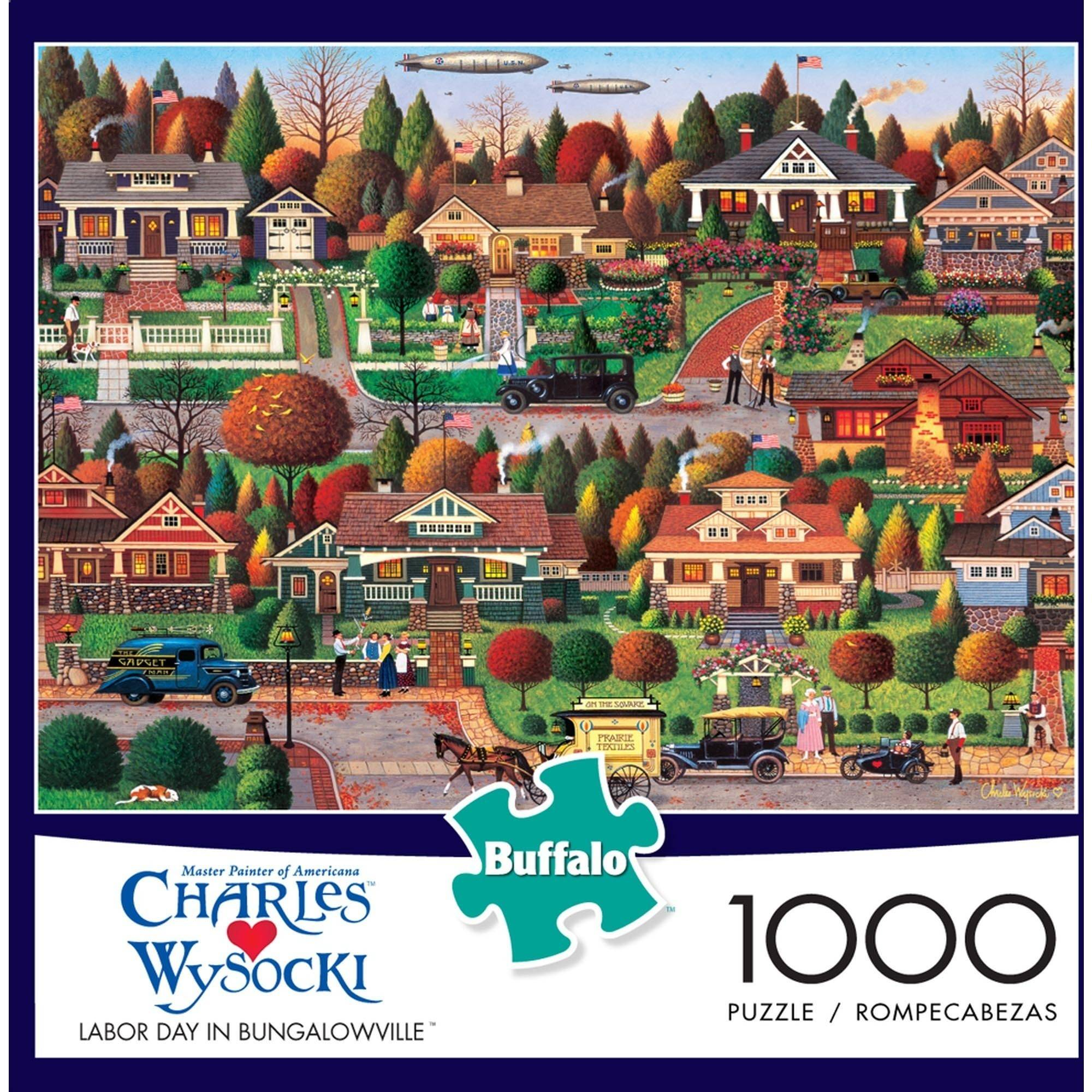 1000-Piece Wysocki: Labor Day in Bungalowville Puzzle by Buffalo Games