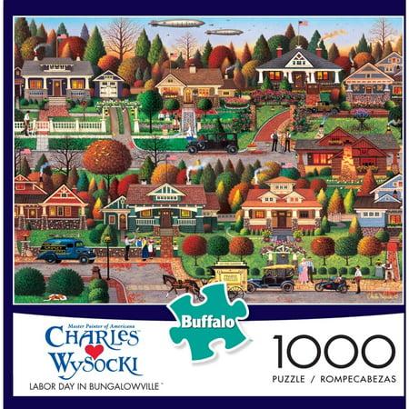 1000-Piece Wysocki: Labor Day in Bungalowville Puzzle