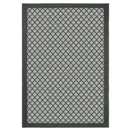 Orian Rugs Indoor/Outdoor Squares Fusion Trellis Area Rug ()