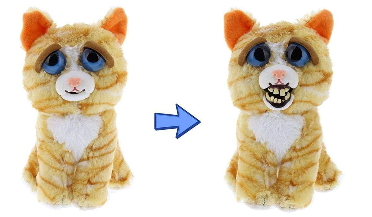 Feisty Pets Princess Pottymouth the Cat Derpy Face Plush by William Mark Corp