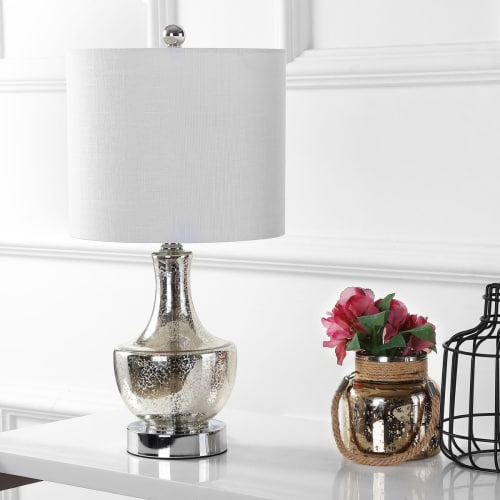 "Colette 20"" Mini Glass LED Table Lamp, Multiple Colors by JONATHAN Y"