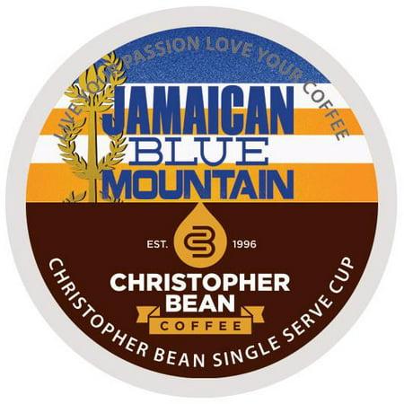 Christopher Bean Coffee K-Cups, Jamaica Blue Mountain, 18 Count Carob Bean Pods