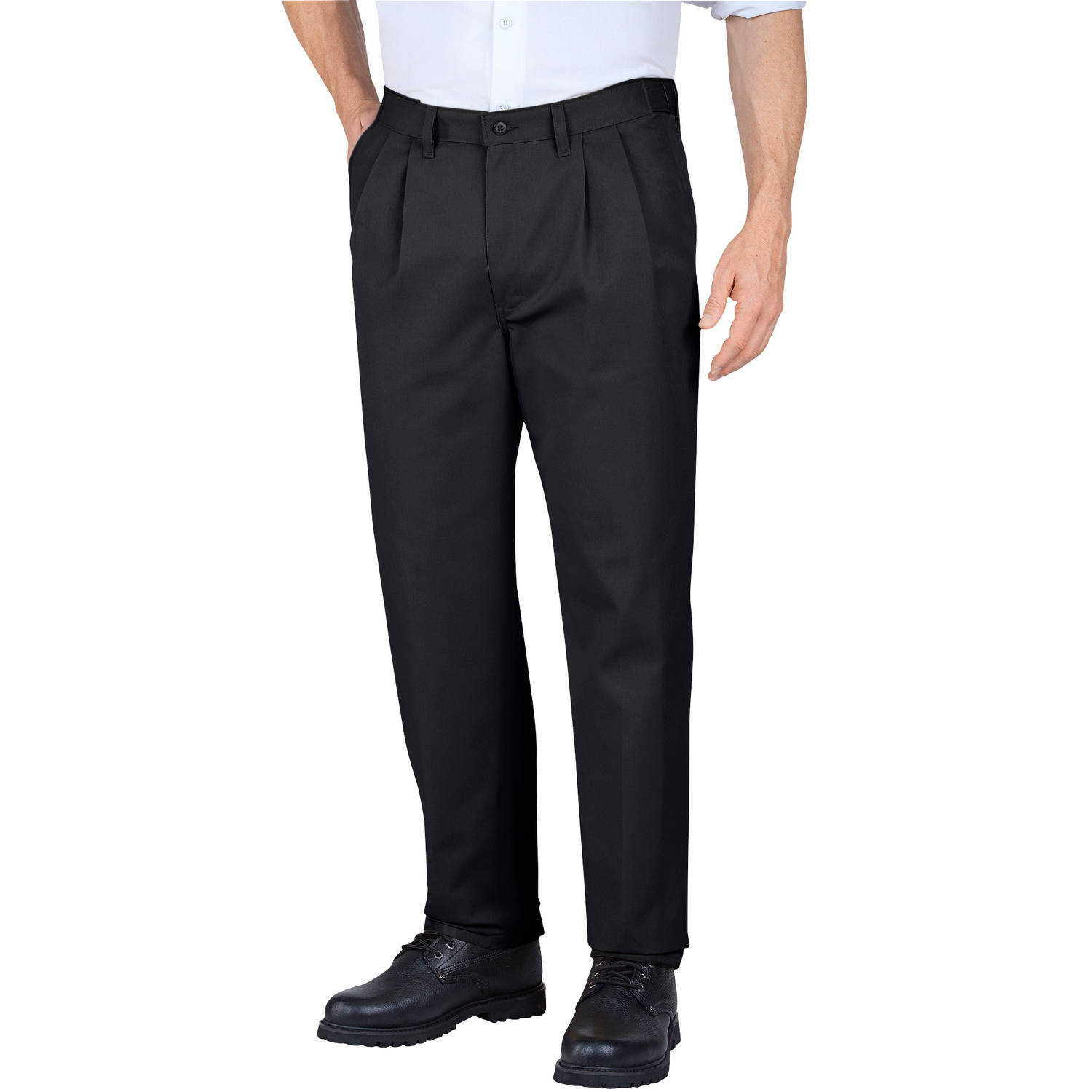 Genuine Dickies Men's Pleated Comfort-Waist Work Pants - Walmart.com