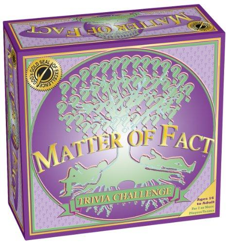 MATTER OF FACT The Trivia Challenge Board Game by ZANE PUBLISHING