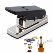 ESYNIC Guitar Pick Punch DIY Maker Hole Punch Plastic Card Cutter Machine with Cut Board