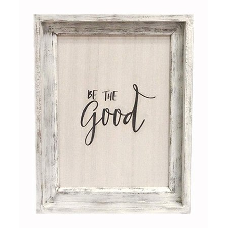 Be The Good Rustic Wood Sign Decor, White Washed Wooden Framed Farmhouse Wall Decor |Wall Signs Wood Sign Wall Decor