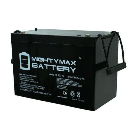 12V 100AH BATTERY FOR RENOGY PV SOLAR PANELS (Best Battery For Solar Panels)