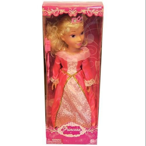 "19"" Princess Doll In Pink Dress (Aurora Like)"