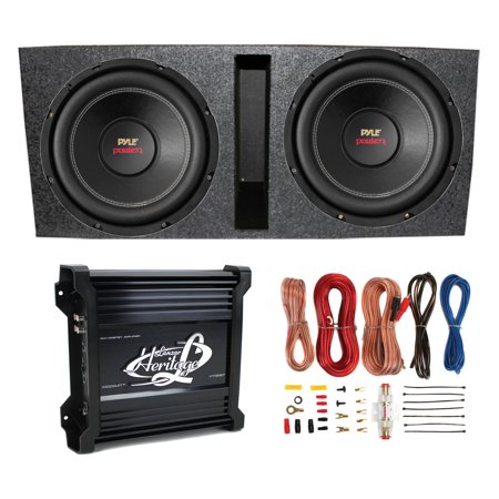 Astonishing 2 Pyle 15 Plpw15D Subwoofers Vented Box Lanzar 2 Channel Amp Wiring Digital Resources Spoatbouhousnl