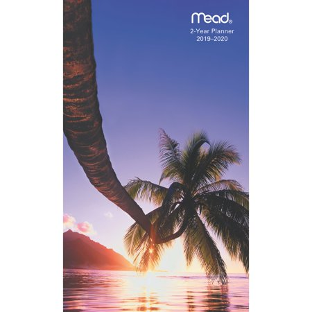 Mead Tropical 2-Year Monthly Pocket Planner - Tropical & Landscapes