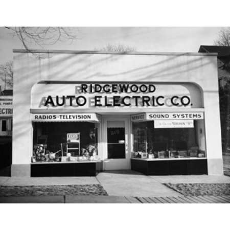 Facade of an electronics store Ridgewood New Jersey USA Stretched Canvas -  (24 x 36) - New Usa Electronics