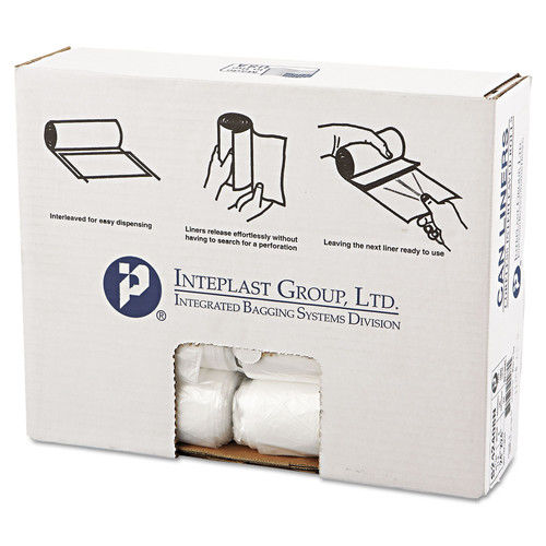 Inteplast Group High-Density Can Liners, 10 Gallon, Clear, 50 count, (Pack of 20)