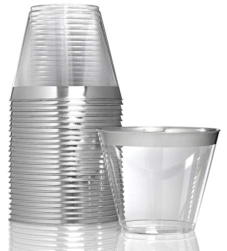 Stock Your Home 9 oz Hard Plastic Party Cup Old Fashioned Tumblers 100 Pack