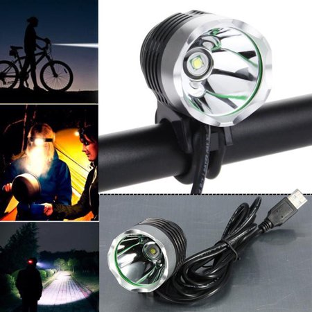 3000 Lumen XML T6 USB Interface LED Bike Bicycle Light Headlamp Headlight 3Mode