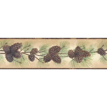 York Wallcoverings Portfolio II Pine Cone Branch 15' x 6
