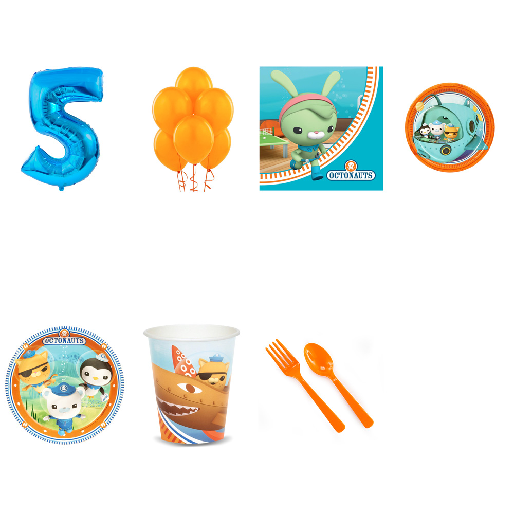 OCTONAUTS PARTY SUPPLIES PARTY PACK FOR 32 WITH BLUE #4 BALLOON
