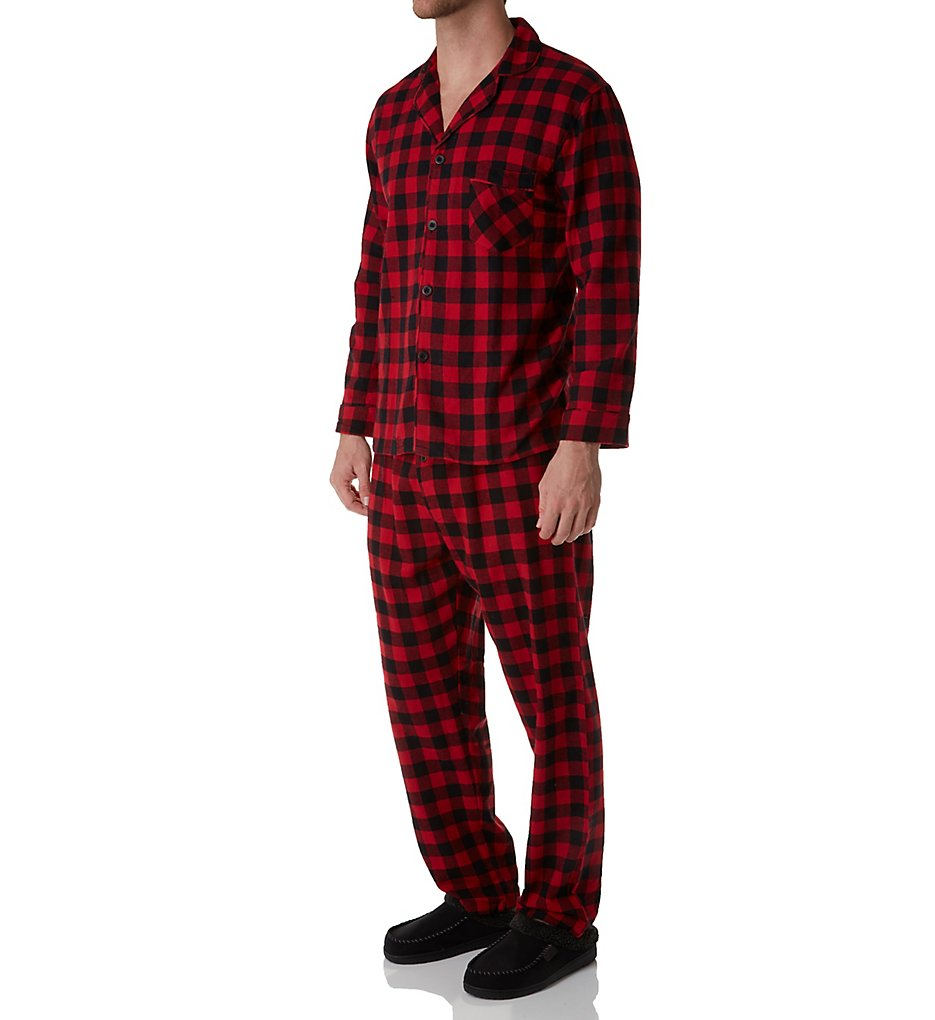 HANES 4039B Big Man Plaid Flannel Pajama Set
