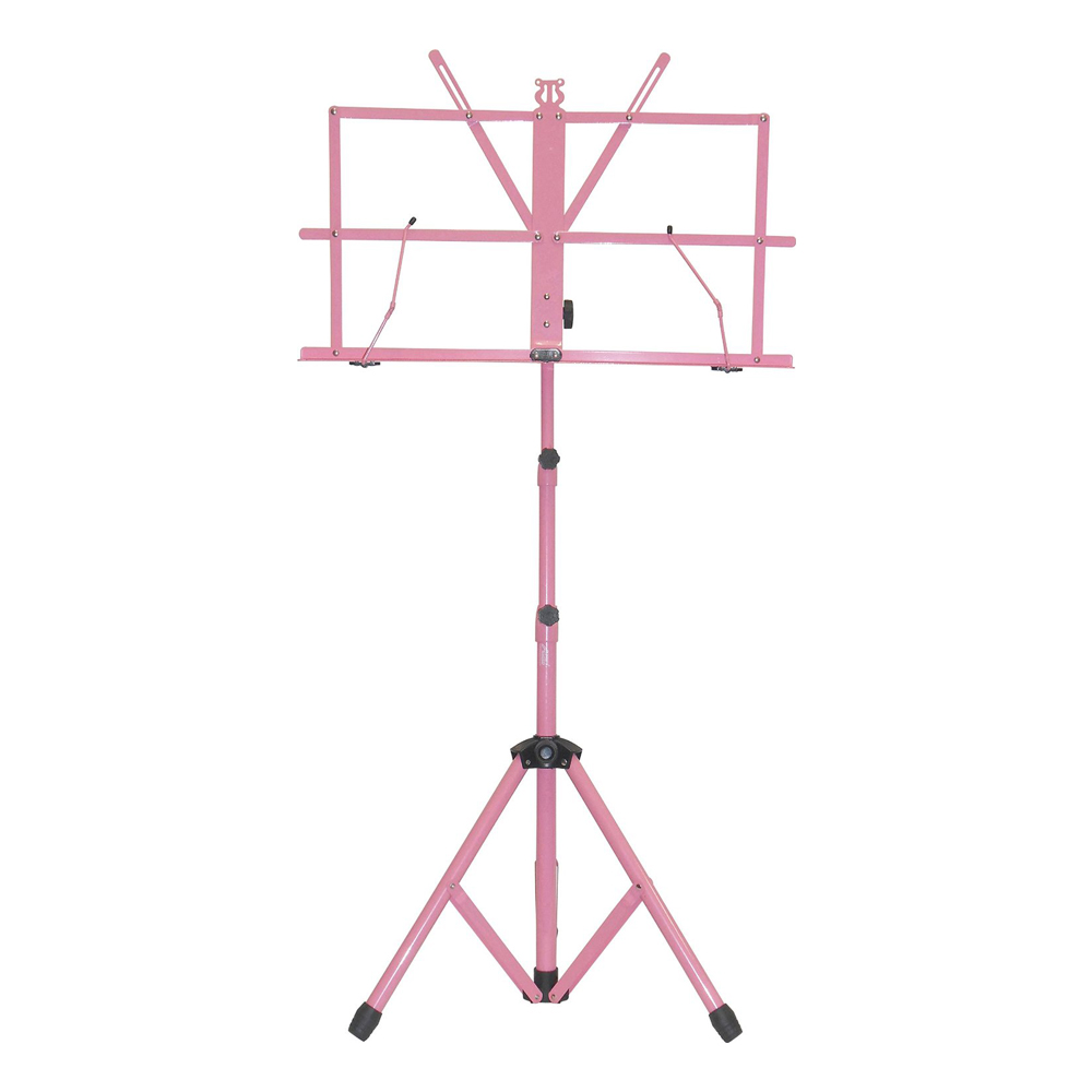 Sky Brand New Lightweight Adjustable Folding Music Stand with Carrying Bag-Pink by