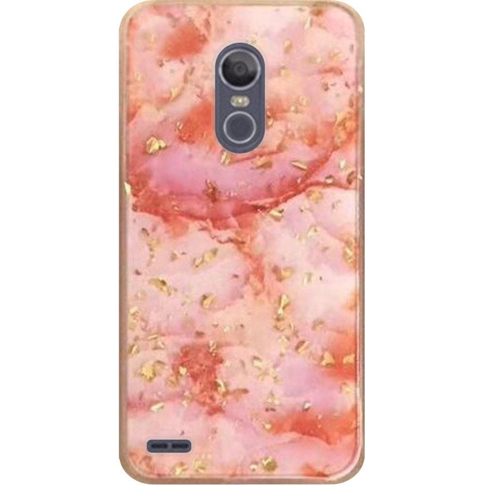For LG Stylo 3 Stylo 3 Plus Marble Glitter Case - Black