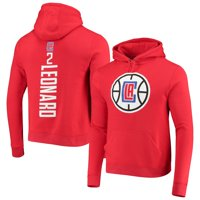 Kawhi Leonard LA Clippers Fanatics Branded Team Playmaker Name & Number Pullover Hoodie - Red