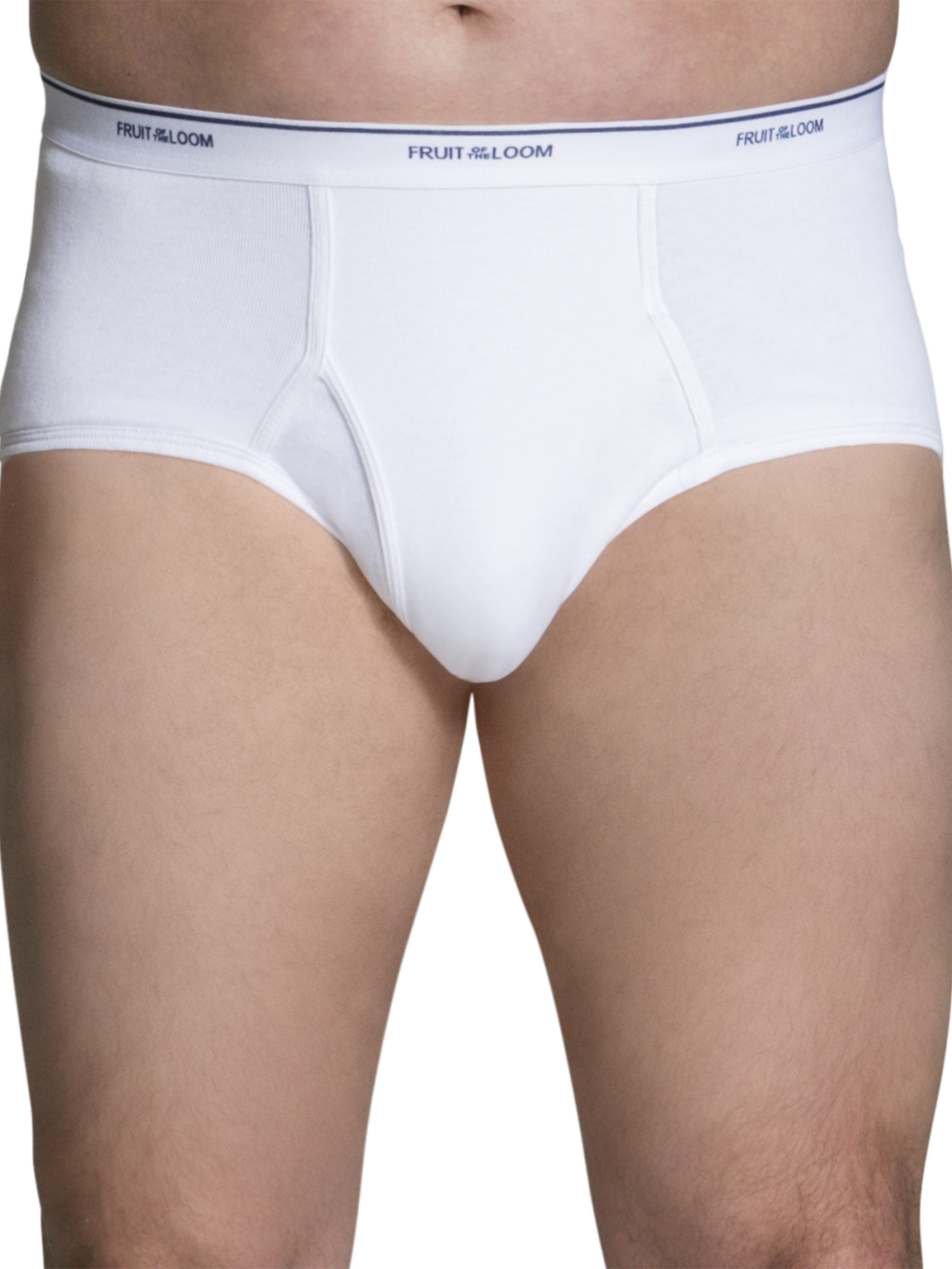 Big Men's Dual Defense Classic White Briefs, Super Value 8 Pack