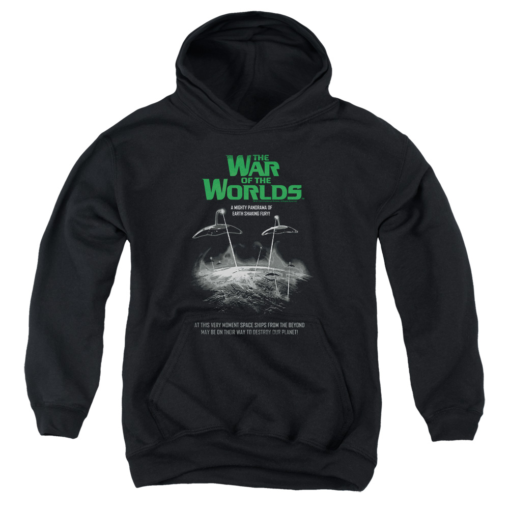 The War Of The Worlds Attack Poster Big Boys Pullover Hoodie