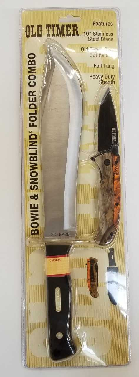 Old Timer Bowie Knife Combo