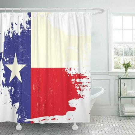 XDDJA Star Scratched Texas Flag of Houston Torn Celebration Vintage Shower Curtain 66x72 inch - image 1 de 1