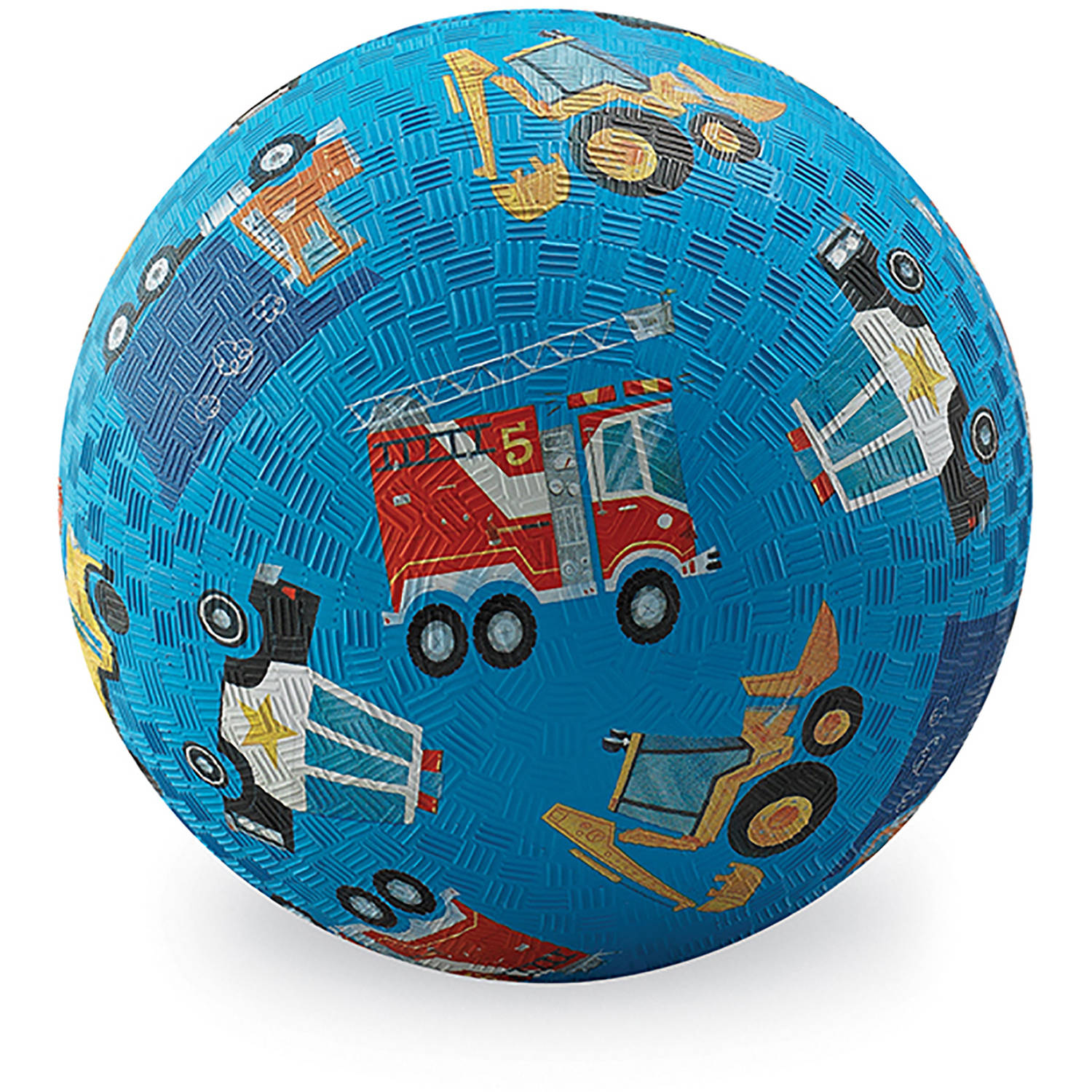 "Crocodile Creek Vehicles Playground Ball, 7"", Blue"