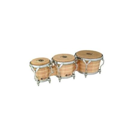 Latin Percussion LP202AW Generation III Triple Bongo, Natural w/ Traditional