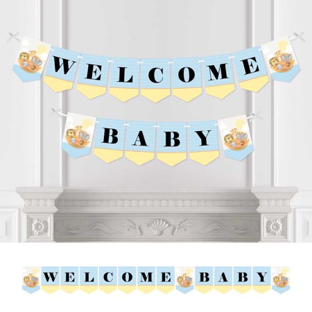 Noahs Ark Baby Shower Tea - Noah's Ark - Baby Shower Bunting Banner - Animal Party Decorations - Welcome Baby